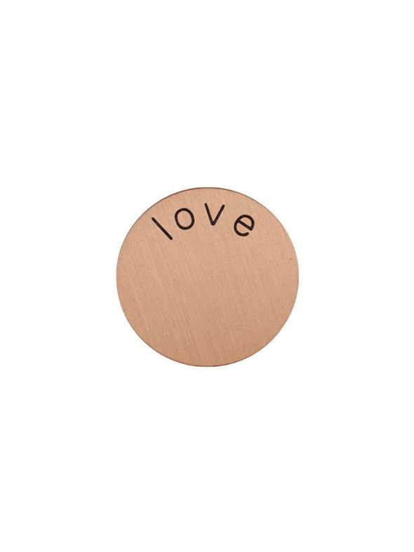 'Love' Mini Rose Gold Coin