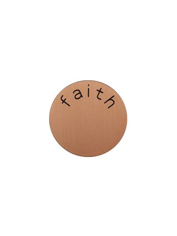 'Faith' Medium Rose Gold Coin