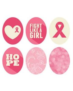 Breast Cancer Awareness Oval Locket Backdrops